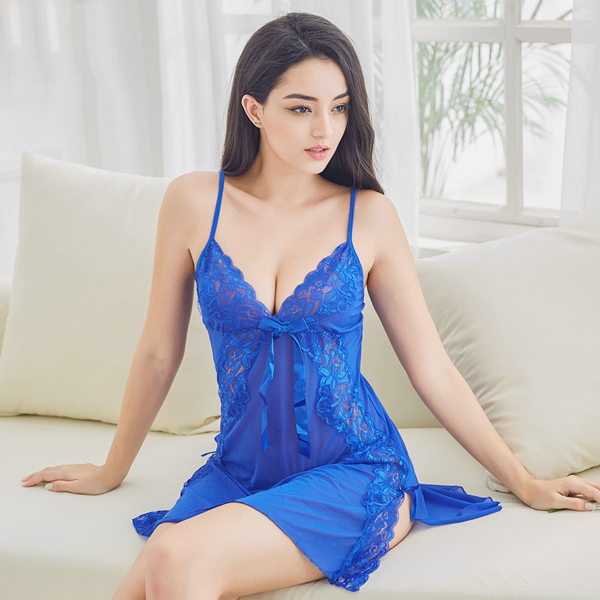 Transparent-Lace-Harness-Sexy-Pajamas-Dressing-Gown-Three-piece-Suit-1254899