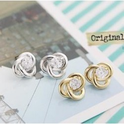 Flash Crystal Stud Earrings