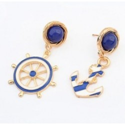 European And American Fashion Personality Style Anchor Earrings