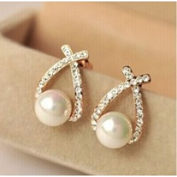 Brincos Perle Pendientes Bou Pearl Earrings