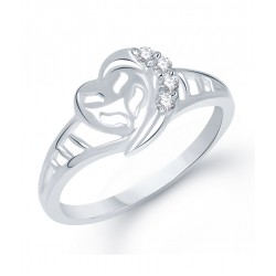 Entangled Heart Rhodium Plated Ring on my Store Nepal
