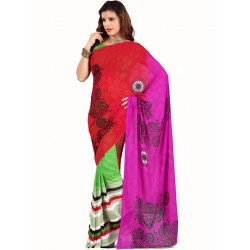 Purple Net Embroidered,Stone Saree  in Nepal.